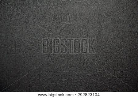 Leather. Artificial Leather. Textured Surface Of Artificial Or Natural Leather. Close-up View