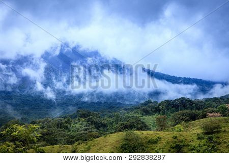 View of cloud forest in central Costa Rica near Mount Arenal