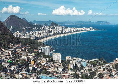 View From Vidigal Favela, Rio De Janeiro.