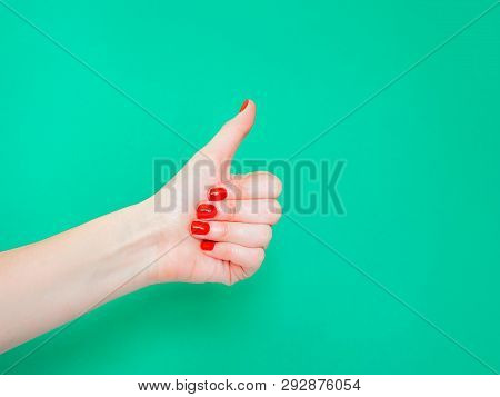 The Thumbs Up Sign. Like Hand Sign. Used When You Want To Demonstrate That You Like Something Or Tha