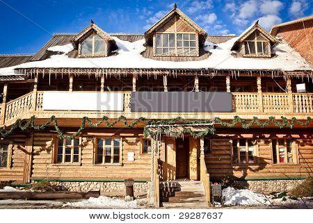 Peasant's log hut