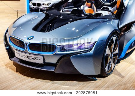 Bmw Sports Car At Exhibition In Moscow