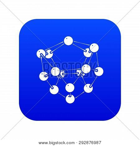 Glucose Icon Blue Vector Isolated On White Background