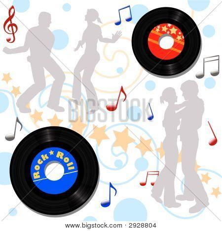 Retro Disco Record Hop.Eps