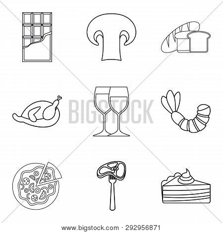 Junket Icons Set. Outline Set Of 9 Junket Icons For Web Isolated On White Background