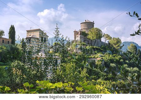 Castello Brown, Portofino, Liguria, Italy - August 09, 2018: Castello Brown Is A House Museum Locate