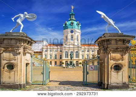 Gate to the Charlottenburg palace in Berlin, Germany