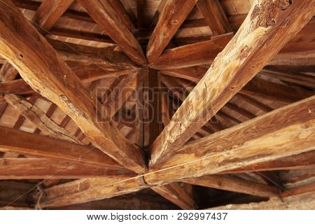 Ancient Covering In Wooden Beams Ancient Covering In Wooden Beams