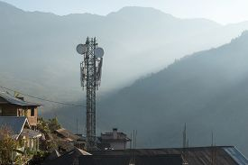 A Remote Telecom Tower In A Desolate Area In The Hills