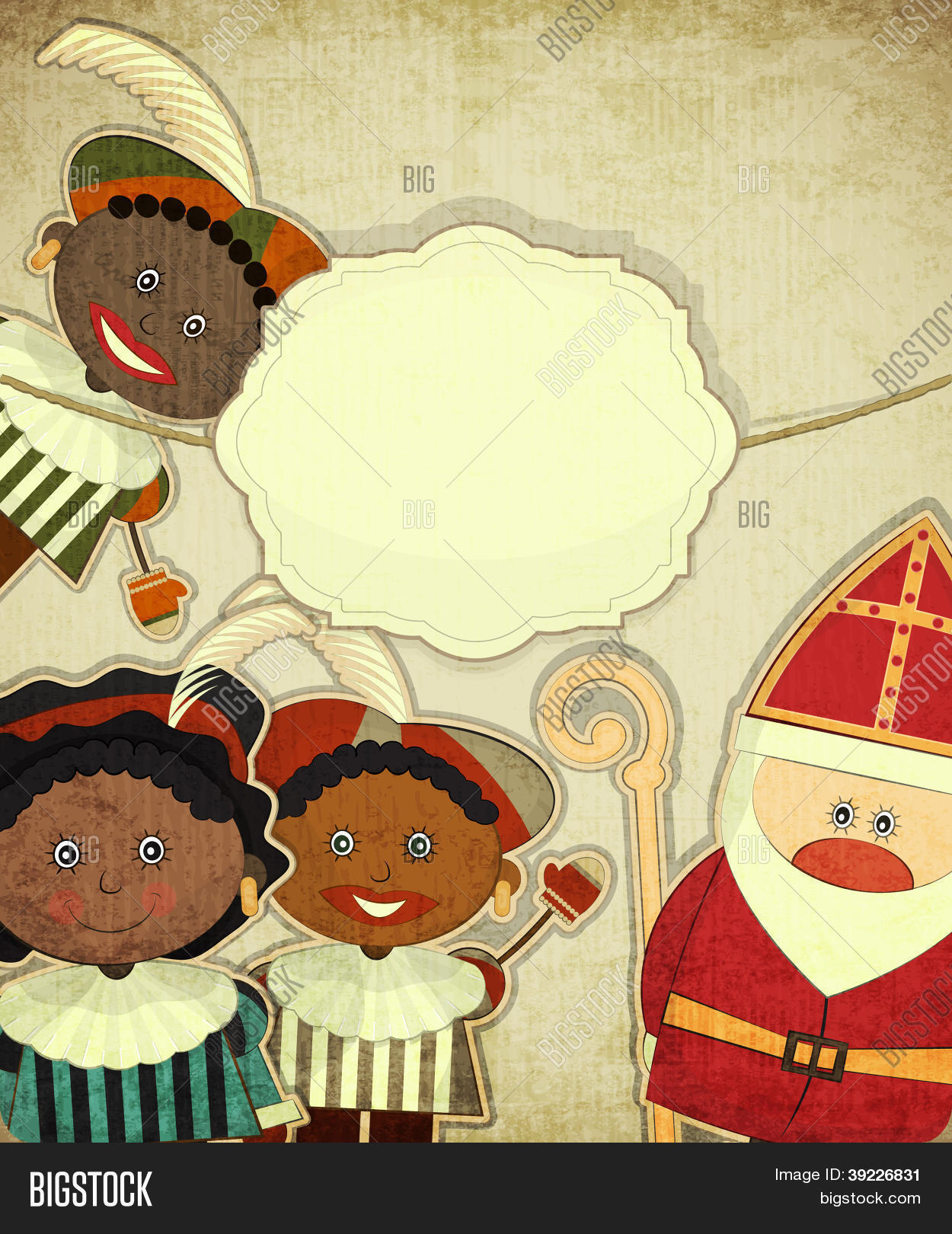 Christmas card dutch vector photo free trial bigstock christmas card with dutch santa claus sinterklaas m4hsunfo
