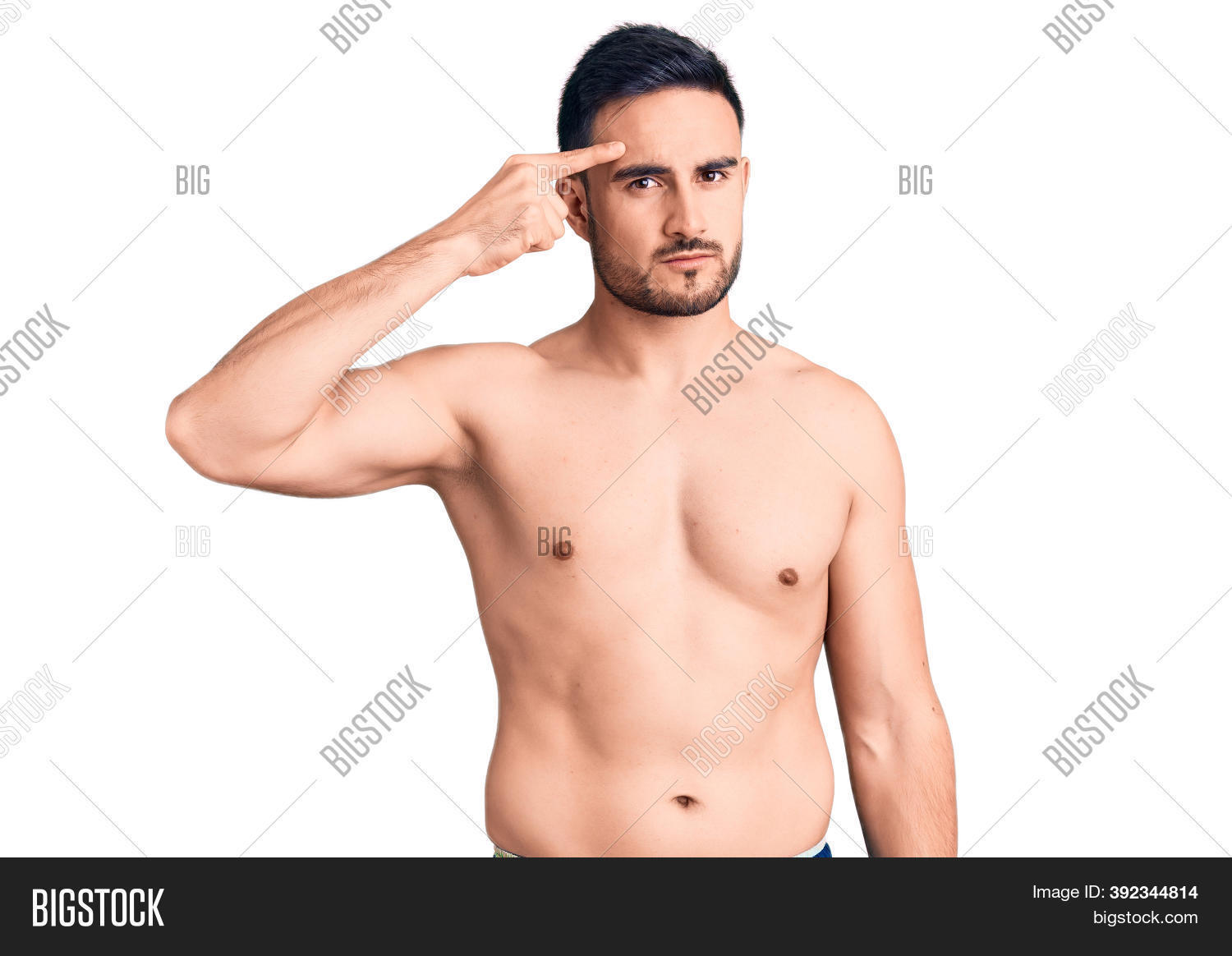 Ugly muscle man