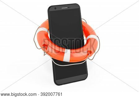 Service And Repair Of Smartphone Phone, 3d Rendering Isolated On White Background