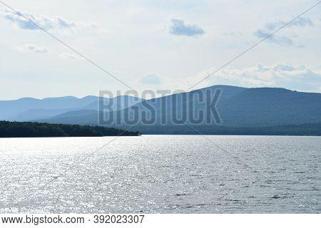 Ashokan Reservoir In Ulster County In New York