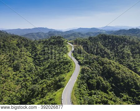 Beautiful Road On The Top Of The Mountain, Road Like Number Three Bo Kluea District, Nan Province