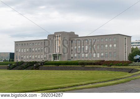 Reykjavik, Iceland - June 21, 2020: University Of Iceland (icelandic: Haskoli Islands).