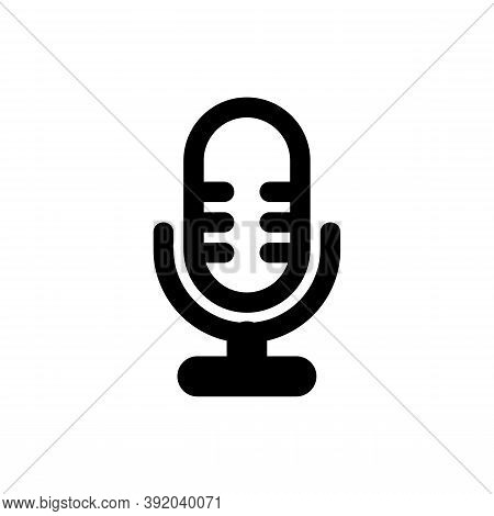Microphone Icon Isolated On White Background From Ui Collection. Microphone Icon Trendy And Modern M