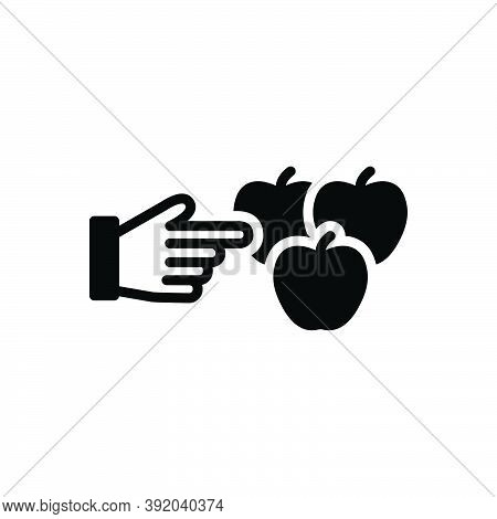 Black Solid Icon For These Hand Choice Like Select Fruit Apple Preference