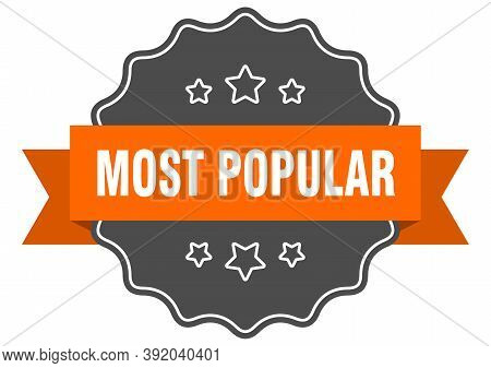 Most Popular Isolated Seal. Most Popular Orange Label. Most Popular