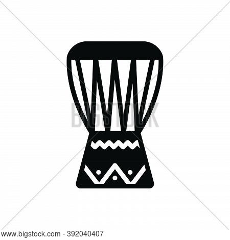 Black Solid Icon For African-drum Drum Instrument Equipment African Bongo Djembe Indigenous Beat Cul