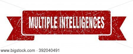Multiple Intelligences Ribbon. Multiple Intelligences Grunge Band Sign. Multiple Intelligences Banne