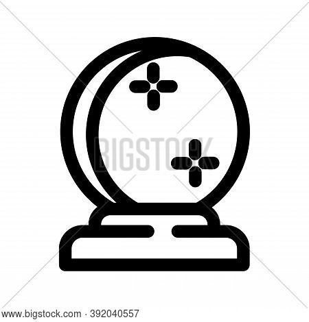 Magic Ball Icon Isolated On White Background From Magic Collection. Magic Ball Icon Trendy And Moder
