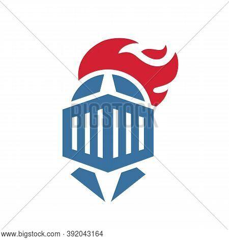 Knight Armor Logo Icon Design, Warrior Helmet Symbol