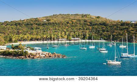 Beach Lagoon In St. Thomas, Usvi