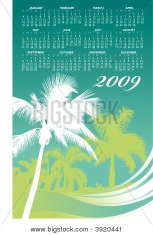 2009 Palm Tree Wave Calande