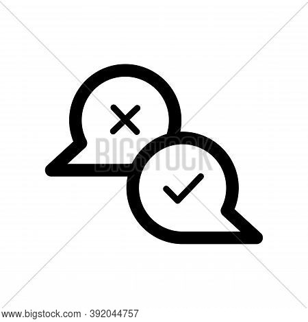 Chat Icon Isolated On White Background From Voting Elections Collection. Chat Icon Trendy And Modern