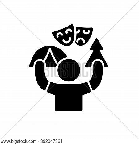 Camp Counselor Black Glyph Icon. Summer Job. Outdoor Pursuits. Creating Recreational Plans And Activ