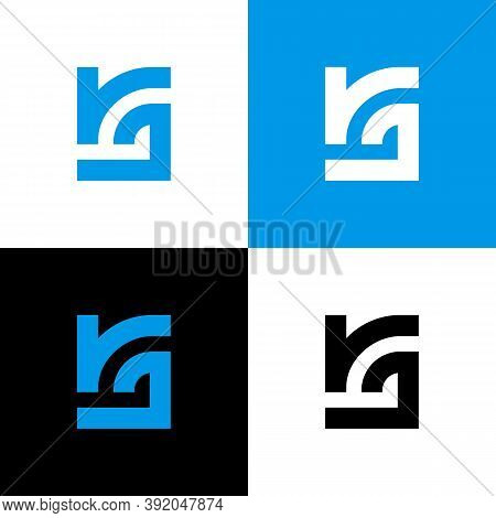 Initial Letter Rj Or Jr Logo Design Template Elements, Abstract Monogram Illustration