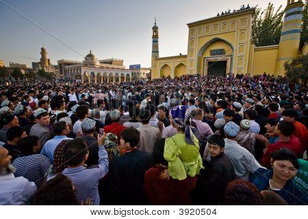 Crowd Watches Muslim Dancers At Celebration