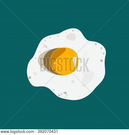 Broken Egg For Scrambled Eggs With Yolk