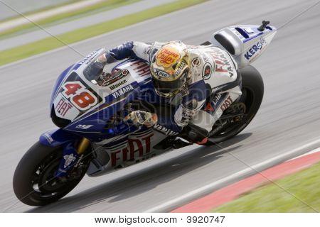 Spanish Jorge Lorenzo Of Fiat Yamaha Team At 2008 Polini Malaysian Motorcycle Grand Prix Sepang Circ