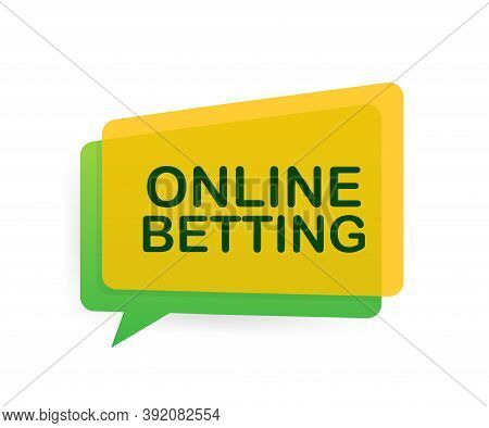 Online Betting. Flat Web Banner With Red Bet Now On White Background For Mobile App Design. Vector S