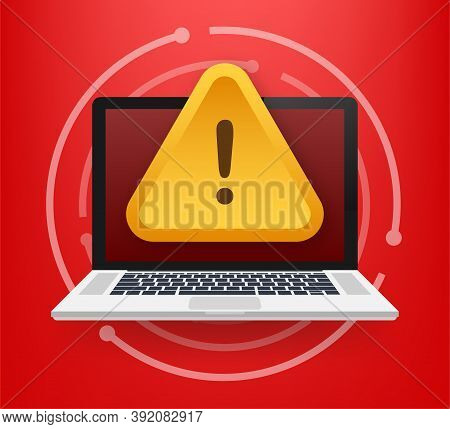 Scam Alert. Hacker Attack And Web Security Vector Concept, Phishing Scam. Network And Internet Secur