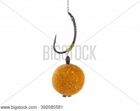 Fishing Rig For Carps, Boilie Rig, Isolated On White