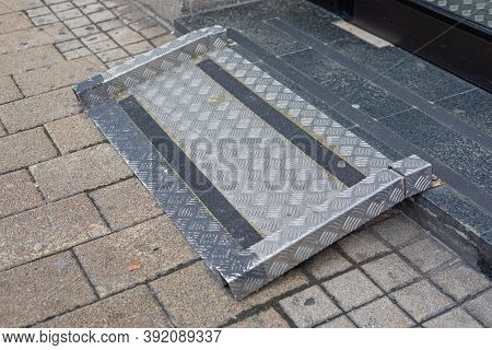 One Step Ramp For Wheelchair User Building Access