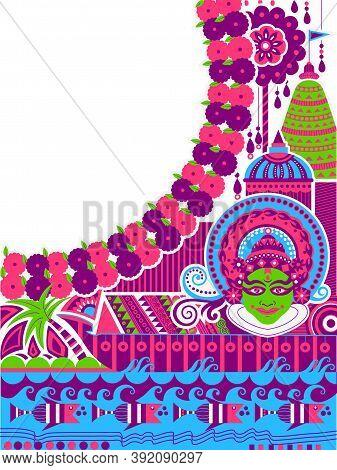 Happy Onam Background For Festival Of South India Kerala