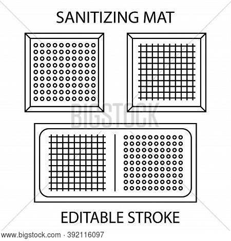 Disinfectant Mat. Sanitizing Mat. Antibacterial Entry Rug. Disinfecting Carpet For Shoes. Sterile Su