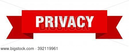 Privacy Ribbon. Privacy Paper Band Banner Sign