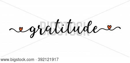 Hand Sketched Gratitude Word As Banner. Lettering