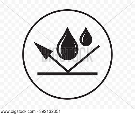 Waterproof Icon Or Water Proof Symbol, Vector Wet Weather And Impermeable Liquid Or Drop Resistant A