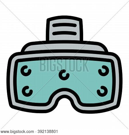 Simulation Game Goggles Icon. Outline Simulation Game Goggles Vector Icon For Web Design Isolated On