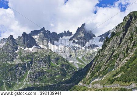 Susten Pass, Road Through Alps, Switzerland, Europe