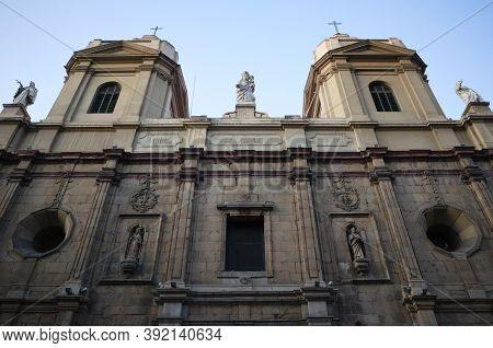 Front View Of Santo Domingo Church (iglesia De Santo Domingo) Catholic Church In Historical Centre O