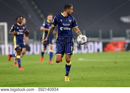 Torino, Italy. 25th October 2020. Federico Ceccherini Of Hellas Verona Fc In Action During The Serie