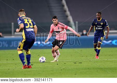 Torino, Italy. 25th October 2020. Alvaro Morata  Of Juventus Fc During The Serie A Match  Between Ju