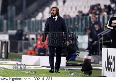 Torino, Italy. 25th October 2020. Andrea Pirlo , Head Coach Of Juventus Fc, During The Serie A Match