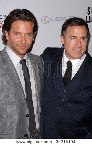 LOS ANGELES - NOV 19:  Bradley Cooper, David O. Russell arrives to the 'Silver Linings Playbook' LA Premiere at Academy of Motion Picture Arts and Sciences on November 19, 2012 in Beverly Hills, CA